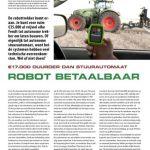 Robottrekker betaalbaar - €17.000 duurder dan stuurautomaat