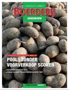 Cover Boerderij Akkerbouw no. 47, 20 augustus. Aardappelpoolprijzen 2012-'13
